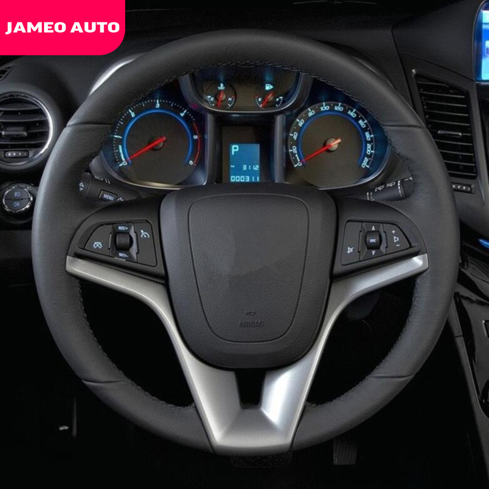 Jameo Auto ABS Car Steering Wheel Moulding Decoration Cover Trim Sticker Fit For Chevrolet Orlando 2009 - 2018 Accessories CA