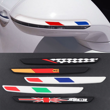 6Pcs Car styling National Flag Emblem Anti Scratches Abrasion Door Rearview Anti-Collision Strip Protector Case sticker