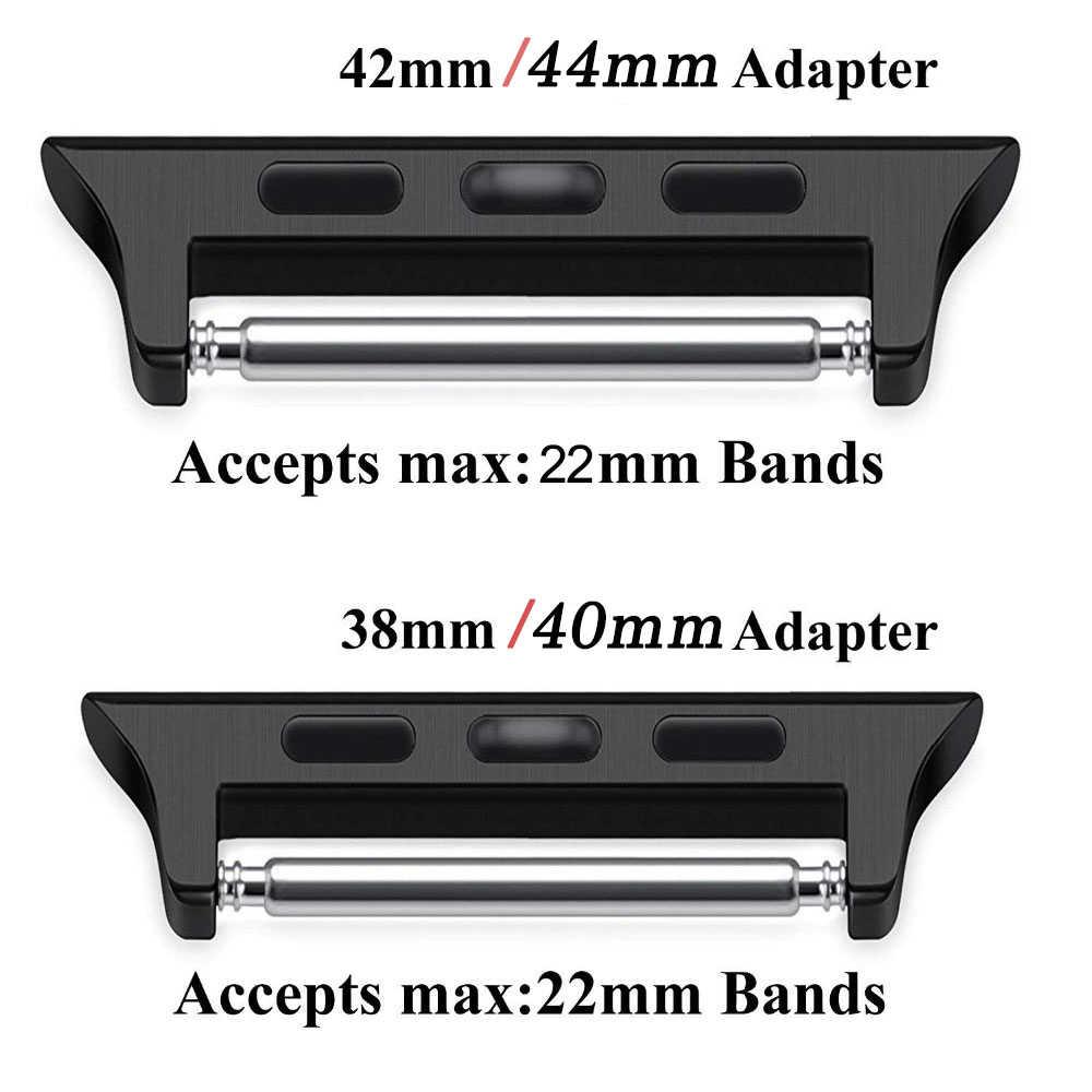 עבור 38mm 42mm אפל שעון 4 3 2 להקת מודלים מתאם ConnectorEasy להתקנה חלקה אלומיניום יד לינקר רצועת מחבר