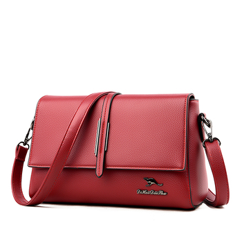 fashion new female pu leather handbag luxury handbags women bags designer tote messenger bags crossbody bag for women sac a main Women Leather Messenger Bags Sac Female Leather Flap Shoulder Bag Solid Vintage Crossbody Bags Women Handbags Designer Bag New