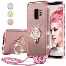 Diamentowa skrzynka dla Samsung Galaxy A71 A51 5G A21 A21s A31 A41 A11 A01 M51 M31 M21 A70 A50 S20 Ultra S10 uwaga 10 Plus Glitter pokrywa