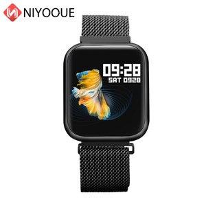 Image 2 - P80 montre intelligente plein écran tactile Ip68 étanche montre intelligente pour Iphone Xiaomi téléphone surveillance de la fréquence cardiaque femmes hommes mode