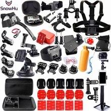 Snowhuアクションカメラgoproヒーロー 8 7 6 5 4 ブラックxiaomi李 4 18k lite 2 sjcam eken H9 囲碁プロアクセサリーマウントセットGS98
