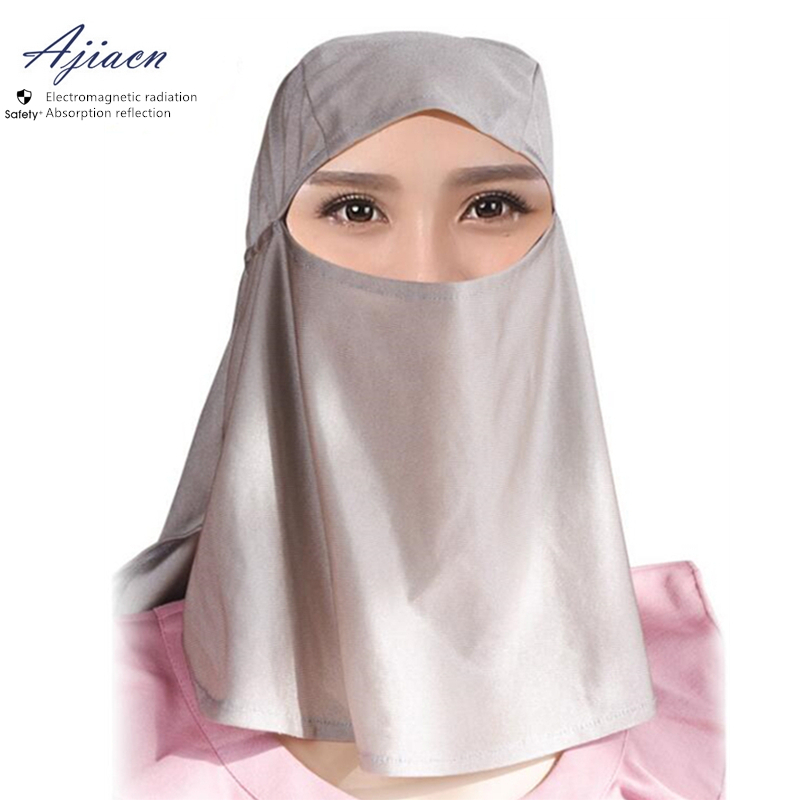 Ajiacn Anti-Electromagnetic Radiation Head Cover Monitoring Room Communication Base Station EMF Shielding Unisex Head Hood
