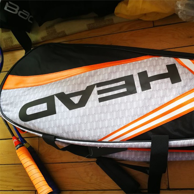 HEAD Tennis Rackets Bag Large Capacity 6-9 Tennis Backpack Badminton Gymbag Squash Racquet Bag With Separated Shoes Bag 73*23*30