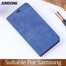 Роскошный флип-телефон для samsung из искусственной кожи с текстурой, складной чехол для S6 S7 S8 S9 S10 Note8 9 Plus, чехол для телефона