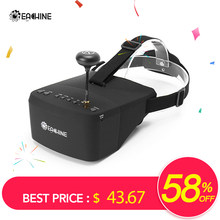 Eachine EV800 5 pulgadas 800x480 FPV gafas de vídeo 5,8G 40CH Raceband Auto-searing Build en batería(China)