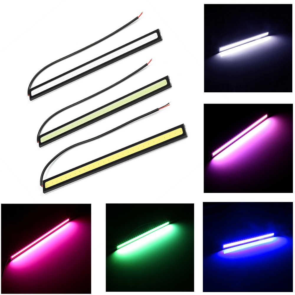 1 sztuk samochodów LED światła dzienne ultra jasny DC 12V 17cm wodoodporny DRL do samochodu COB światła przeciwmgielne DHO DRL