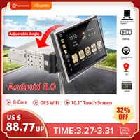 """10.1 """"Android 8.0 Radio samochodowe 1 Din 8 rdzeń odbiornik Stereo GPS Stereo Wifi bluetooth RDS Audio uniwersalny samochodowy odtwarzacz multimedialny"""
