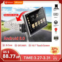 "10.1"" Android 8.0 Car Radio 1 Din 8Core Stereo Receiver GPS Stereo Wifi bluetooth RDS Audio Universal Car Multimedia Player"