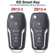 KEYDIY ZB12 3 ZB12 4 KD inteligentny klucz zdalny uniwersalny KD Auto kluczyk do samochodu dla KD X2 Key Generator, ZB12 pasuje do ponad 2000 modeli