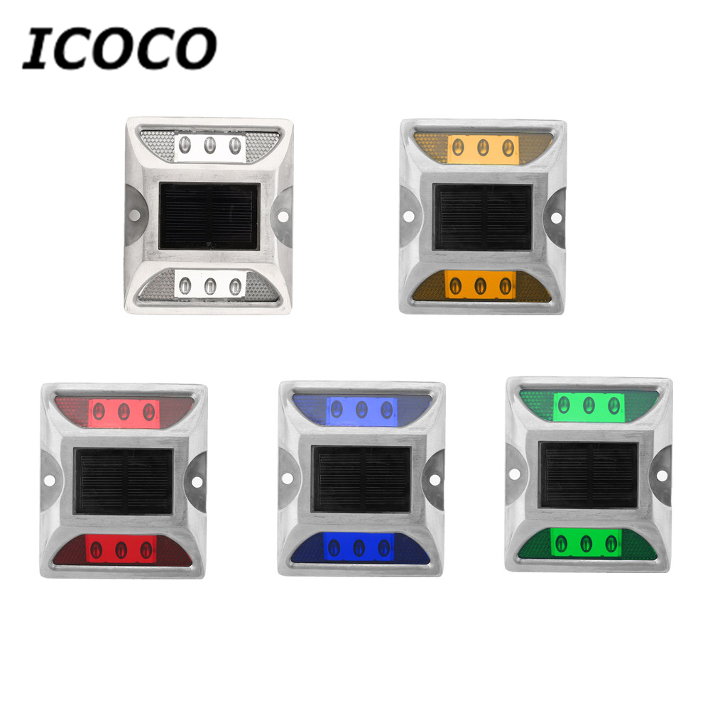 ICOCO שמש ספייק אורות יצוק חיסכון באנרגיה LED להדגיש גבוהה התנגדות עמיד למים כביש תאורת טיפים אור סיטונאי מכירה לוהטת