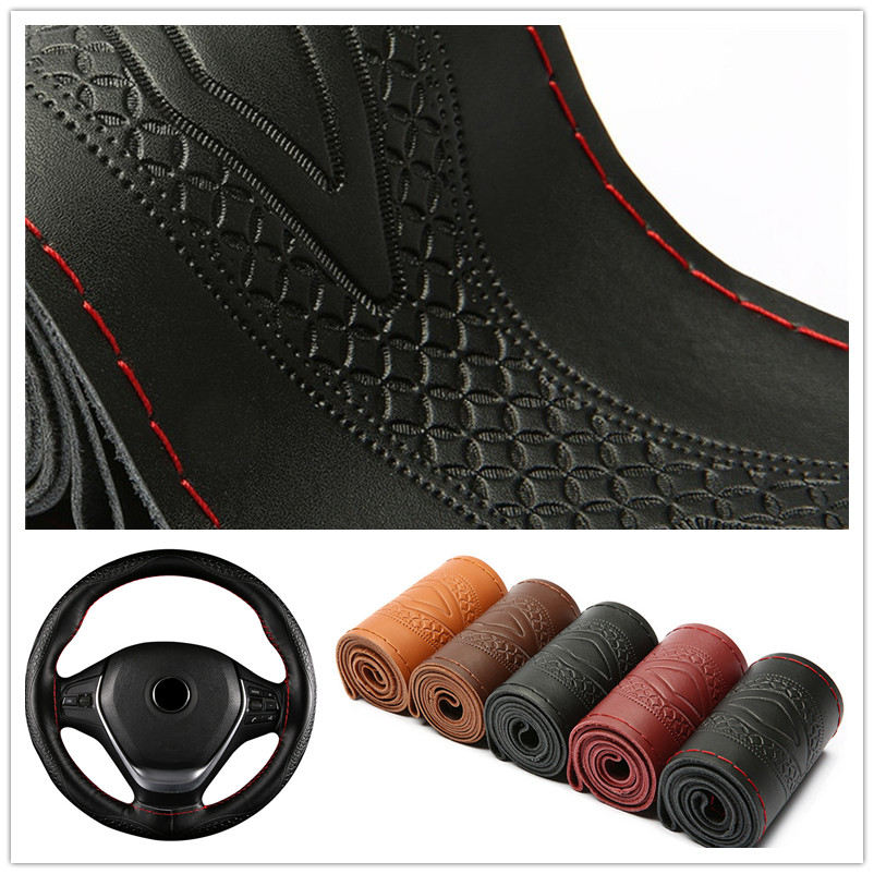 Steering-Wheel-Cover Braid Embossing-Pattern for 38CM title=
