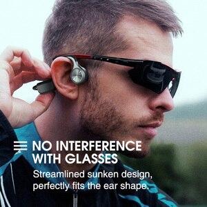 Image 5 - Auricolare Bluetooth 5.0 a conduzione ossea cuffie Wireless a orecchio aperto con microfono a riduzione del rumore auricolare IPX5 per la corsa in bicicletta