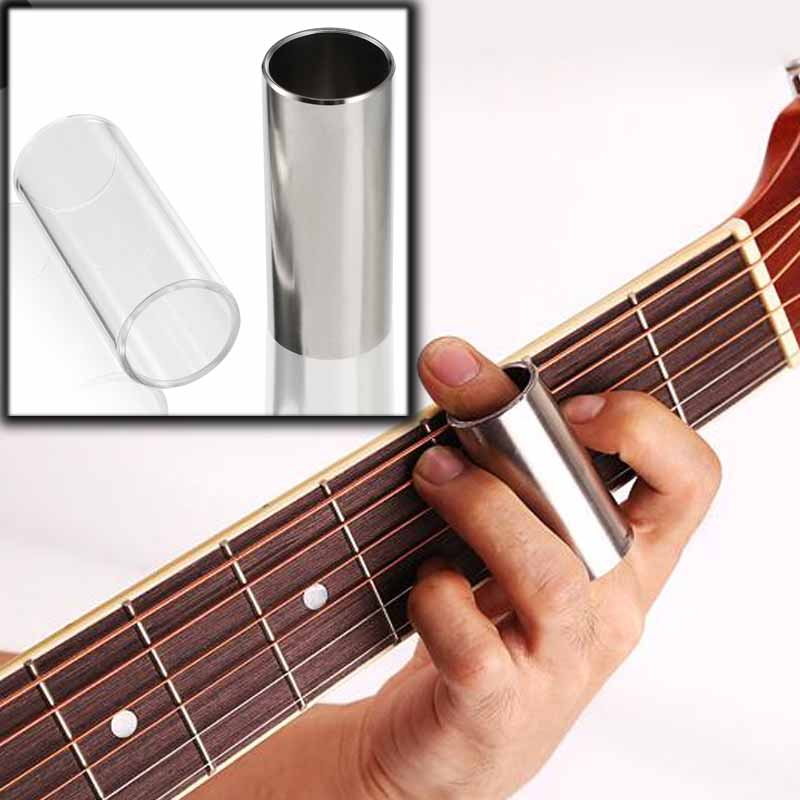 Brass Steel Bass Guitar Slide Guitar Guitarra String Finger Tube Slider For Stringed Instrument Ukulele Parts