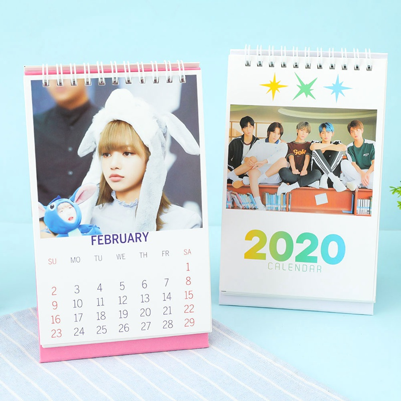 Novelty Kpop Fashion Fashion TXT BLACKPINK 2020 Desktop Calendar Photo Picture Stationery Calendar