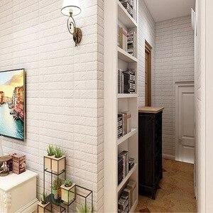 Image 5 - Adesivos de decoração de tijolo para casa, faça você mesmo, adesivos de tijolo para parede da sala de estar, quarto, espuma, arte de casa para crianças papel de parede 3d