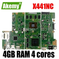 with 4GB RAM 4 cores X441NC Laptop motherboard for ASUS X441N X441NC A441N Test original X441NC mainboard