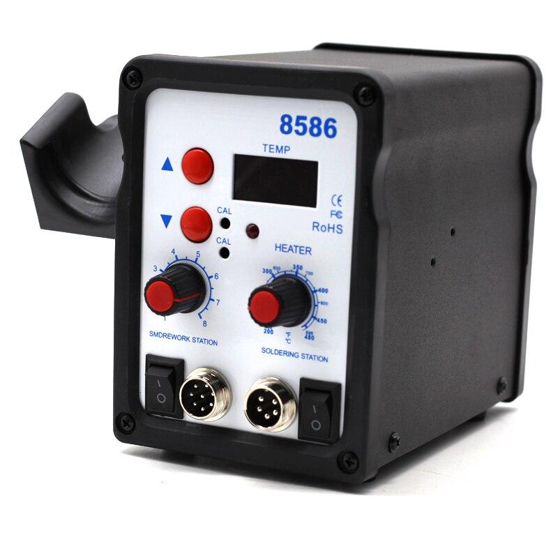 Image 3 - Yarboly 8586 SMD BGA Rework Solder Station Hot Air Blower Heat Gun Hair Dryer Soldering Hairdryer Desoldering Tool-in Heat Guns from Tools