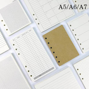 Leaf-Notebook Stationery Refill Paper Spiral-Binder Index Weekly-To-Do-List A6 Business