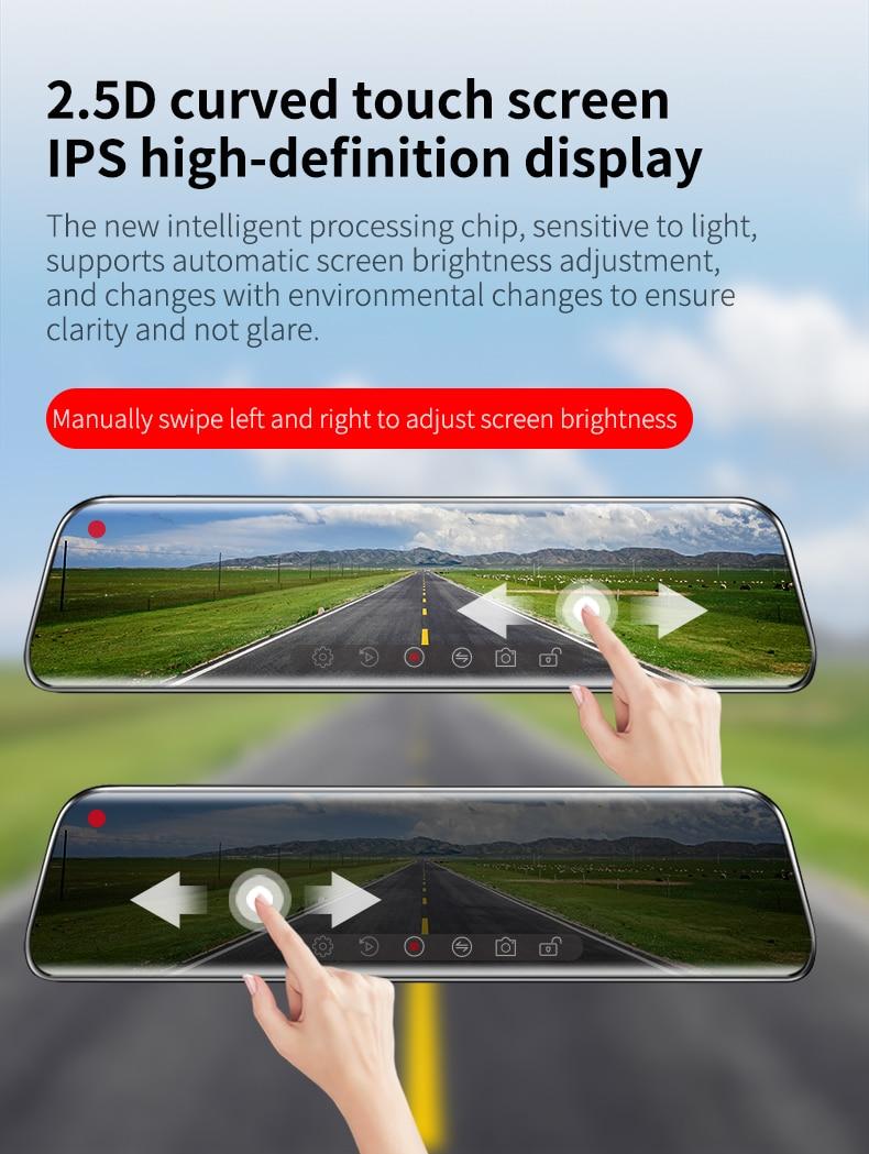 H0dcc4fea8dee41e88226cad890c4b1fd4 - 12インチ バックミラー カー DVR カメラ GPS FHD デュアル1080Pレンズ 駐車24時間モーション検知