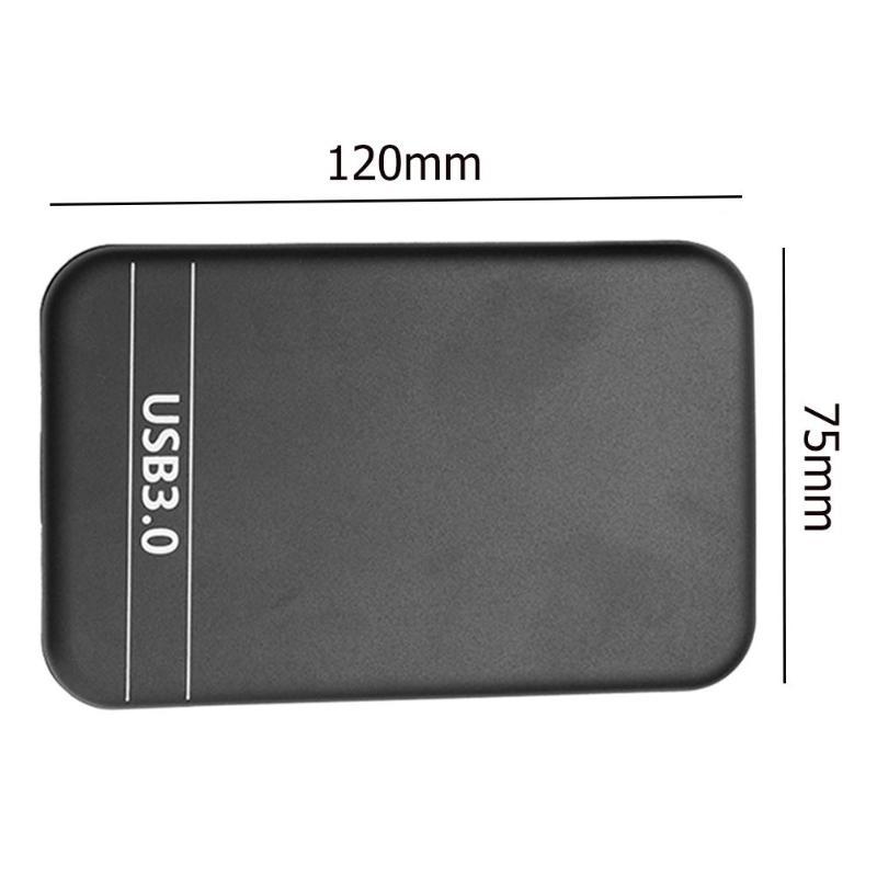 Купить с кэшбэком Portable HDD Case 2.5 inch SATA 2 to USB 3.0 Enclosure 6Gbps External SSD Hard Disk Drive Box for Windows 98/SE/ME/2000/XP/Vista
