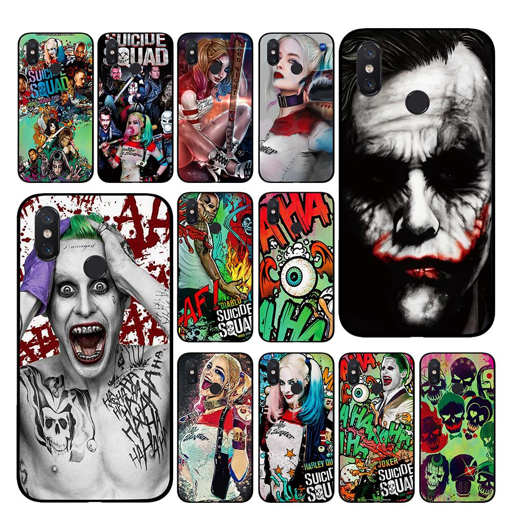 Harley Quinn Suicide Squad Joker <font><b>Marvel</b></font> DC Comic TPU Phone <font><b>cases</b></font> for <font><b>Xiaomi</b></font> <font><b>Redmi</b></font> GO <font><b>4</b></font> 5 6 7 Pro 4A 4X 5A 5Plus 6A Back cover image