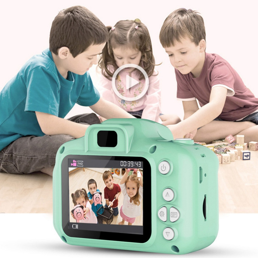 H0dcc9fae6cf54f70885f163ff3aa06561 Rechargeable Kids Mini Digital Camera 2.0 Inch HD Screen 1080P Video Recorder Camcorder Language Switching Timed Shooting #S