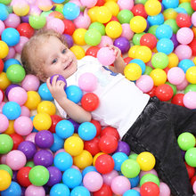 100 pcs 7cm Balls Pool Balls Soft Plastic Ocean Ball For Playpen Colorful Soft Stress Air Juggling balls Sensory Baby Toy(China)
