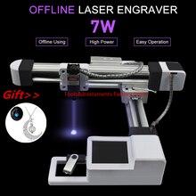 7000mw roteador de madeira controle off line fresadora cnc máquina gravura 7w 3 máquina gravura do laser escultura ferramentas madeira
