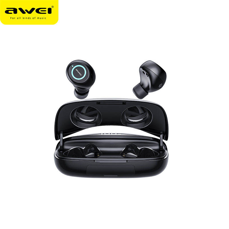 AWEI T19 Waterproof True Wireless Earbuds TWS Bass Bluetooth5 0 Gaming Earbuds Powerful HiFi Quality Sound With Dual Mic