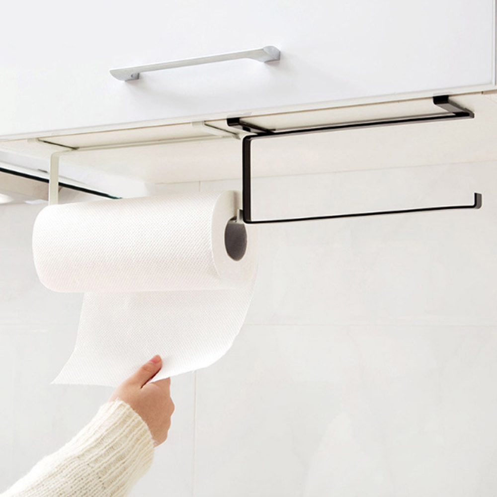 Kitchen Toilet Paper Holder Tissue Holder Hanging Bathroom Toilet Paper Holder Roll Paper Holder Towel Rack Stand Home Organizer