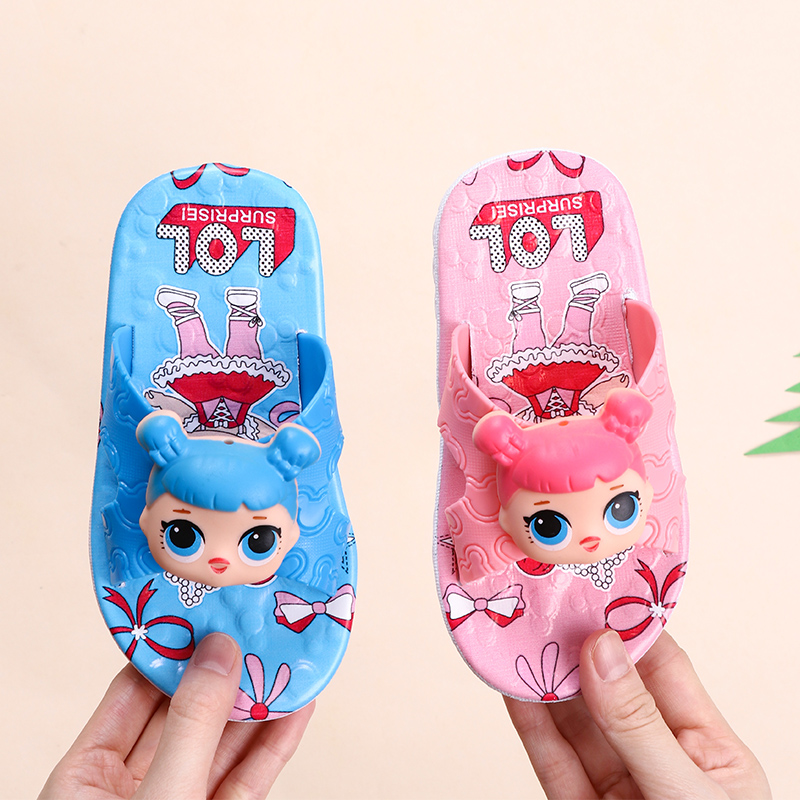 L.O.L SURPRISE! Children Slippers Boy Girl Home Shoes Toddler Infant Kid Flat Shoes Baby Cartoon Non-slip Bath Beach Sandals