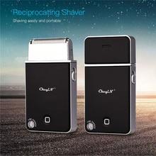 Mini rasoir électrique mince pour hommes, Rechargeable par USB, Mini rasoir de voyage, accessoire de soin du visage, à mouvement, tondeuse à barbe