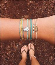 1 Set Of Simple Bracelets New Fashion Beads Bracelet Retro Bohemian Hollywood Beaded Ladies