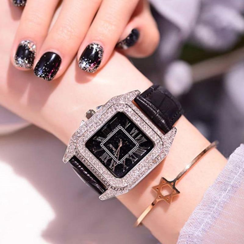 Hot style Women Rhinestone Watches Silver Dress watch Full Diamond Crystal Lady Luxury Watch Female Quartz