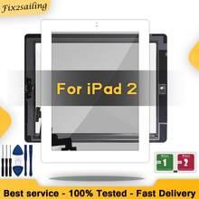 Para ipad 2 vidro exterior ipad2 tela de toque a1395 digizer a1396 a1397 sensor digitador toque com/sem chave