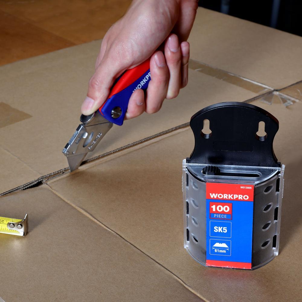 Image 4 - Workpro Coltelli Utility Lame Lame Originali Heavy Duty Lame per  Coltello SK5 Acciaio Inox Lame di Coltello 100 Pz/lotto-in Coltelli da  Attrezzi su