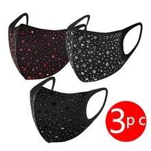 Mascarilla antipolvo PM2.5, máscara transpirable para fiesta, protección facial lavable y Reutilizable, para exteriores, 3/4 Uds.