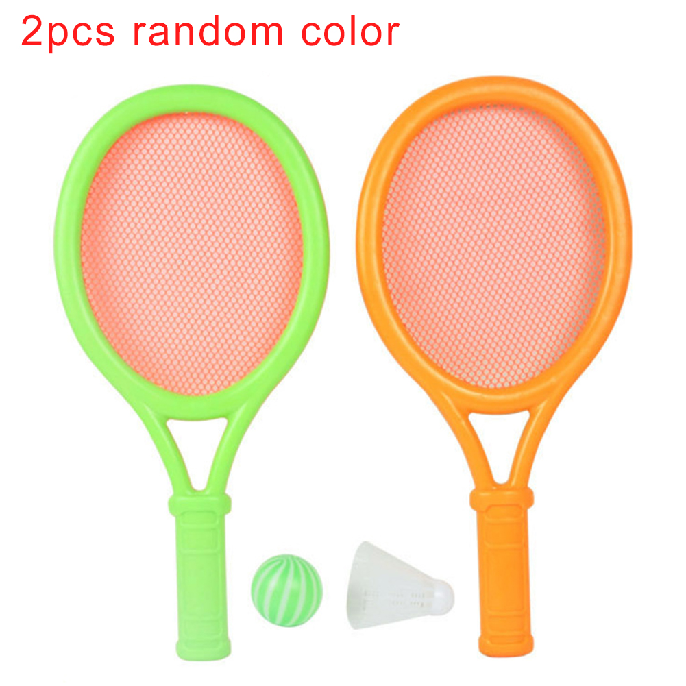 Badminton Funny Sports Toy Exercise Anti Slip Photo Prop Kids Gift Tennis Racket Set Kindergarten Durable Garden Portable