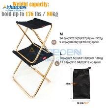 Алюминиевый складной стул для рыбалки, ультра легкий светильник, портативный складной стул для кемпинга, пикника, рыболовное кресло с сумкой для хранения