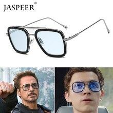 2019 New Fashion Avengers Tony Stark Sunglasses Men Metal Square iron man Glasse