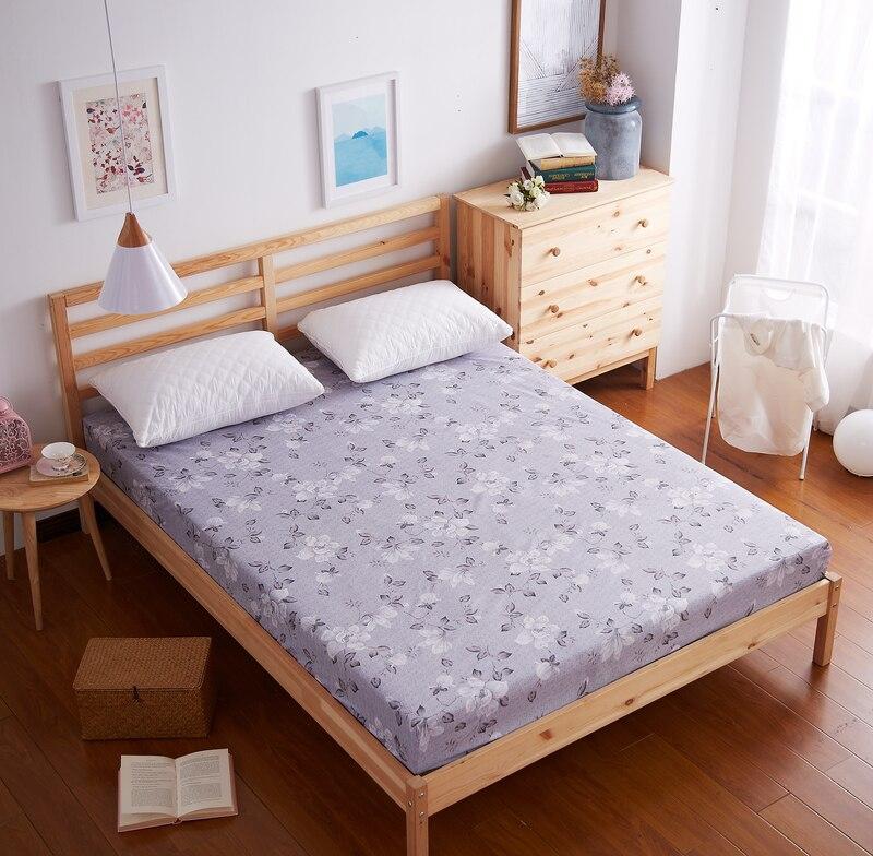 Mecerock 1pc Fitted Sheet Environmental Printing Bed Sheet