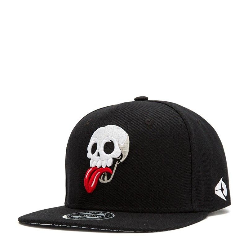 Men Caps Flat Hat Hip Hop Snapback Skull Baseball Cap Street Dance Caps Men Baseball Hat Sun Visor Gorras Casquette Kpop Hat