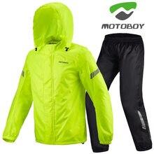 Motoboy venda superior da motocicleta equitação conjunto capa de chuva calças de chuva dividir fino reflexivo à prova dwaterproof água roupas