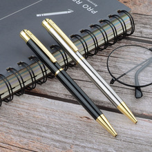 Luxury Metal Rollerball Pen Silver Black Signature Ballpoint Pens for Business Writing Office School Supplies Stationery Gift 9A jinghao kaco angle series high quality golden rollerball pen with original gift case luxury metal ballpoint pens office supplies