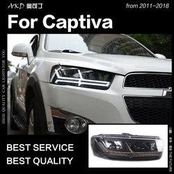 AKD автомобильный Стайлинг для Chevrolet Captiva фары 2011-2018 Динамический указатель поворота светодиодный фонарь Q7-Design DRL автомобильные аксессуары