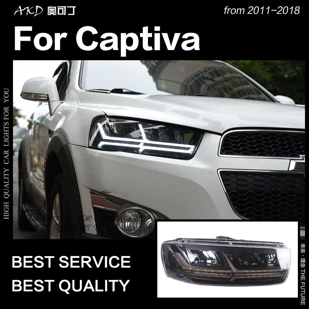 AKD Car Styling For Chevrolet Captiva Headlights 2011-2018 Dynamic Turn Signal LED Headlight Q7-Design DRL Auto Accessories