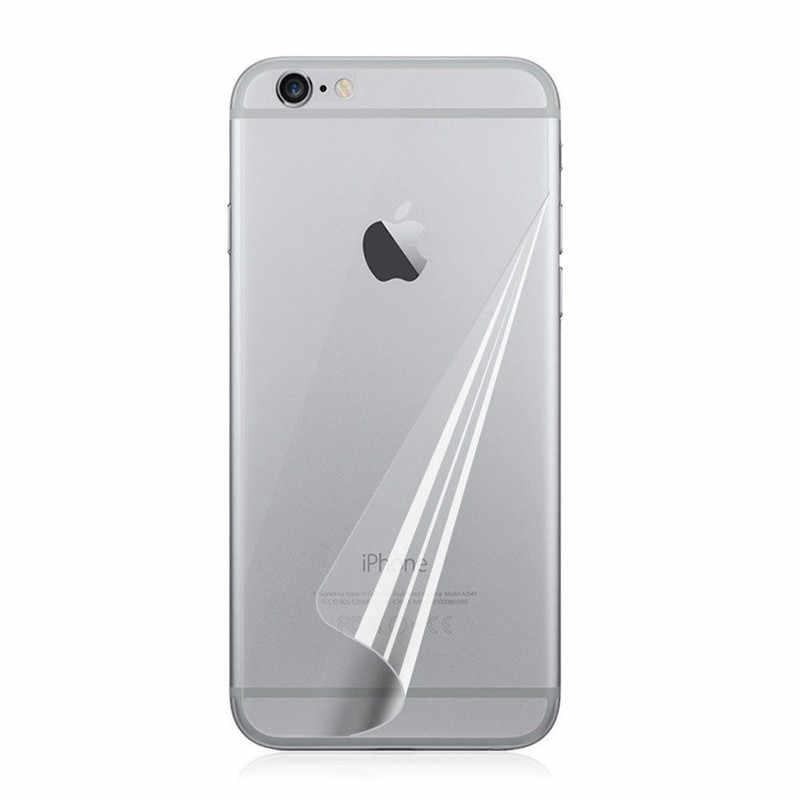 3pcs קדמי + 3pcs חזרה ברור רך פלסטיק מבריק מסך מגן סרט עבור iphone 11X7 8 4S 5 5S SE 6 6S בתוספת XR XS מקסימום