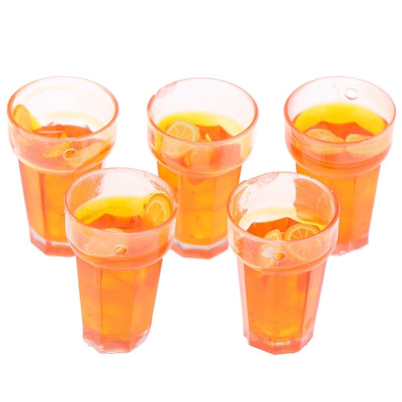 5 pièces Mini 1:12 maison de poupée Miniature nourriture citron thé tasses maison de poupée boissons modèle jouet